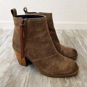 Dolce Vita Brown Suede Leather Booties